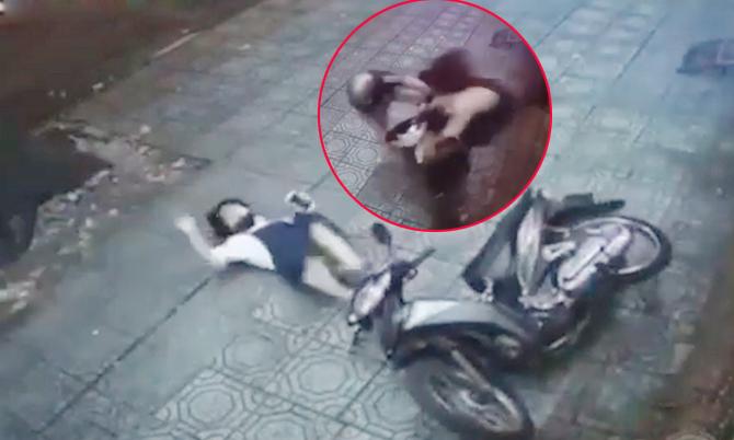 Cô gái 'song phi' khiến tên trộm chạy thục mạng