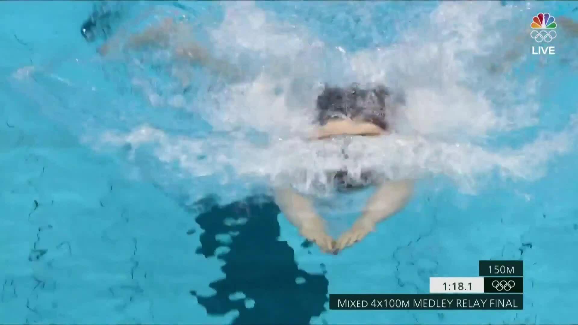 Kình ngư Mỹ tuột kính bơi trong chung kết
