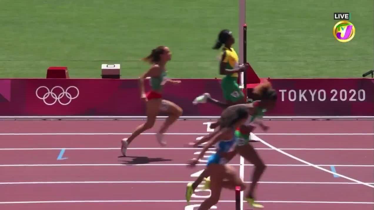 Chân chạy Jamaica bị loại vì giảm tốc quá sớm