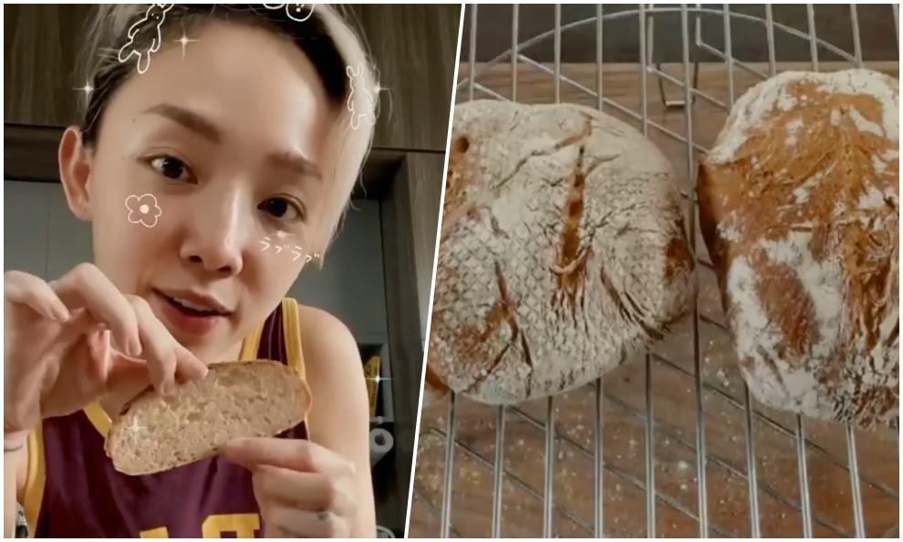 Tóc Tiên khoe bánh mì nguyên cám