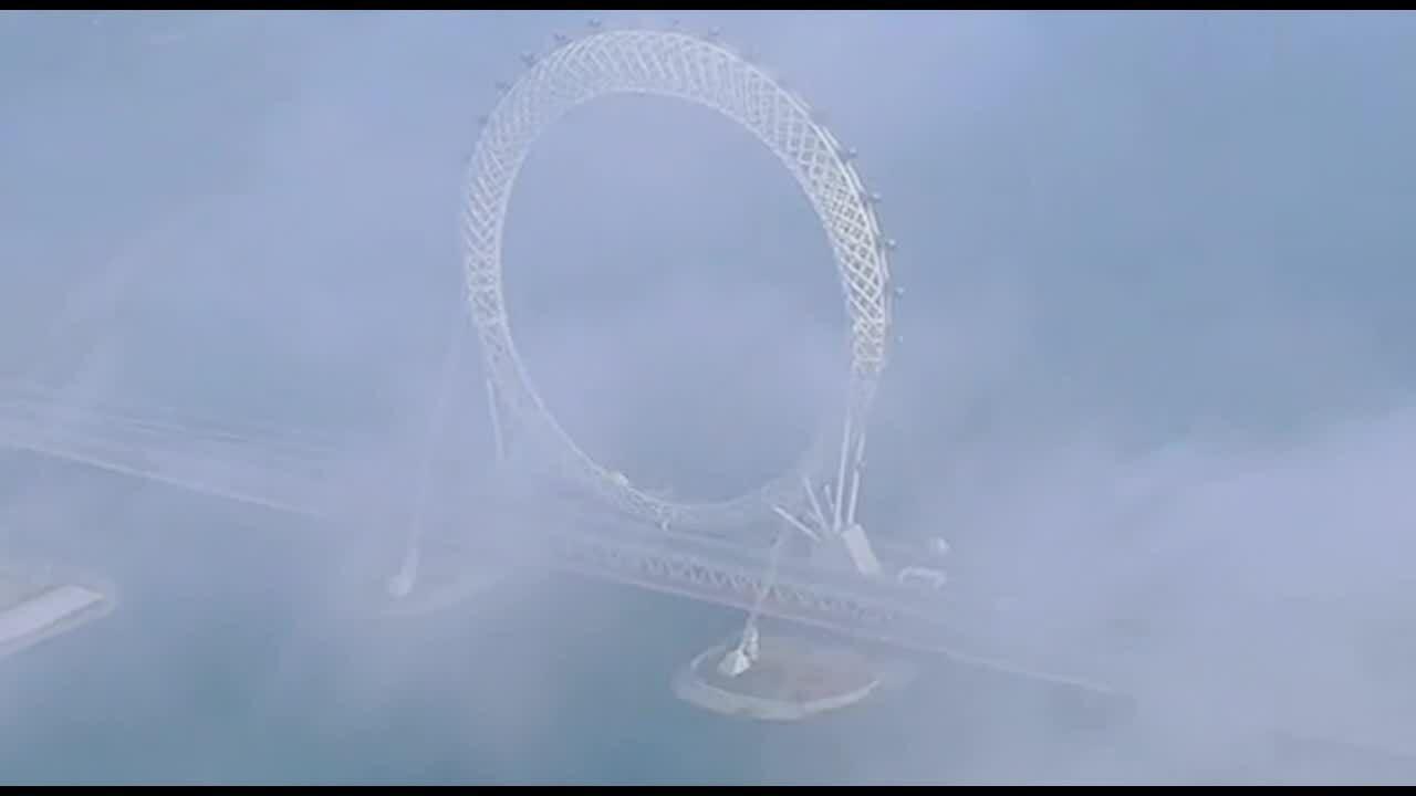 Vòng đu quay được xây trên cầu