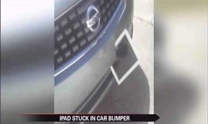 iPad chọc thủng đầu ô tô vẫn sống sót