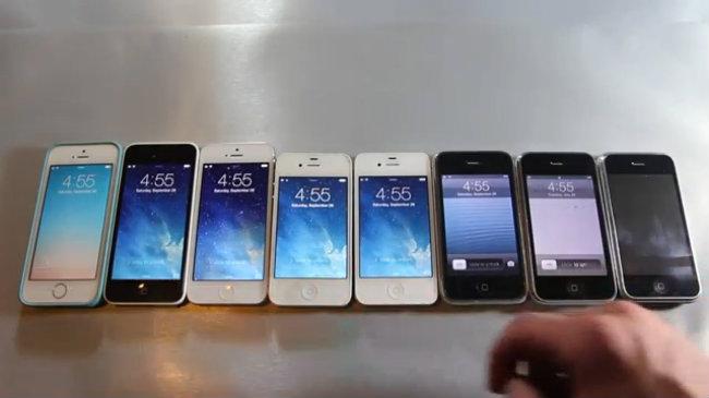 Video so sánh tốc độ 8 đời iPhone