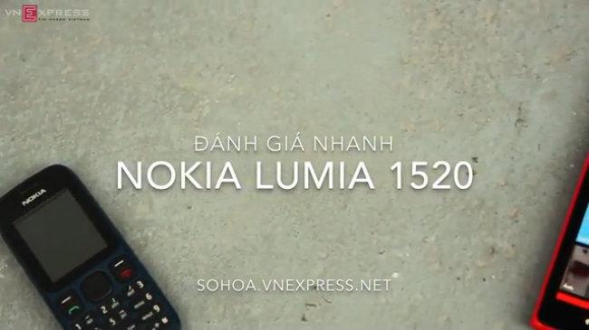Đánh giá nhanh Nokia Lumia 1520