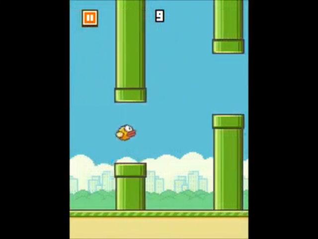Chơi trò Flappy Bird.