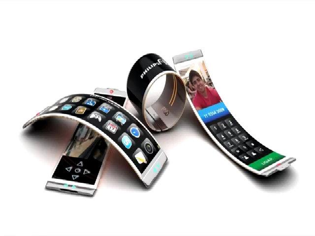 Điện thoại màn hinh dẻo lai smartwatch Philip Fluid