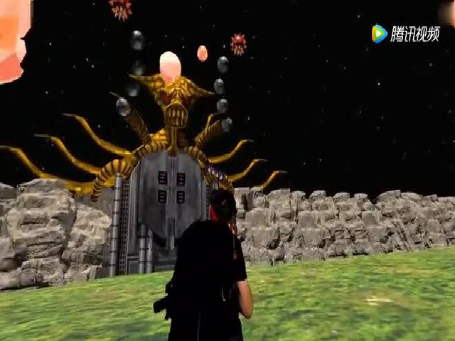 Màn đánh boss trong game Contra với kính thực tế ảo