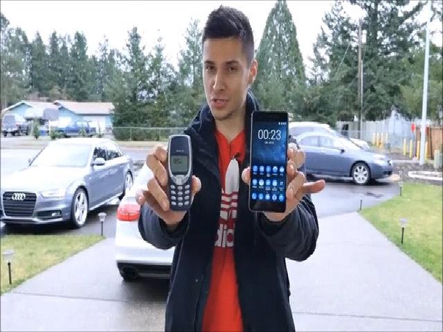 Thả rơi Nokia 3310 và Nokia 6 ở độ cao 0,9 mét