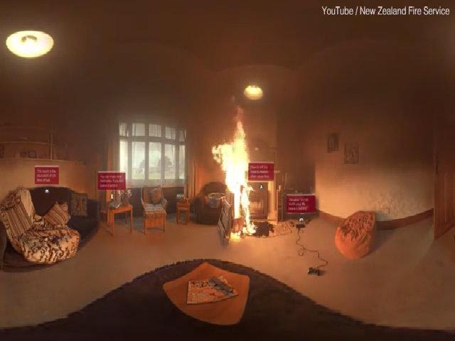 Mô phỏng vụ cháy thông qua kính thực tế ảo