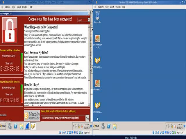 Mã độc tống tiền WannaCry trên máy tính