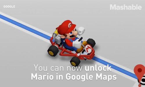 Google đưa nhân vật Mario vào ứng dụng bản đồ
