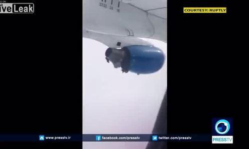 Động cơ máy bay phát nổ ngay trên trời