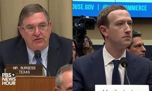 Biểu cảm của Mark Zuckerberg khi Hạ viện chất vấn