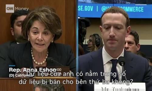 Zuckerberg điều trần trước Hạ viện Mỹ qua video hai phút