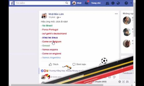 Facebook thêm loạt hiệu ứng cho mùa World Cup