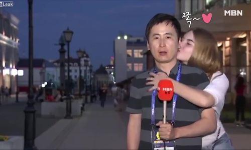 Phóng viên nam bị cưỡng hôn tại World Cup 2018
