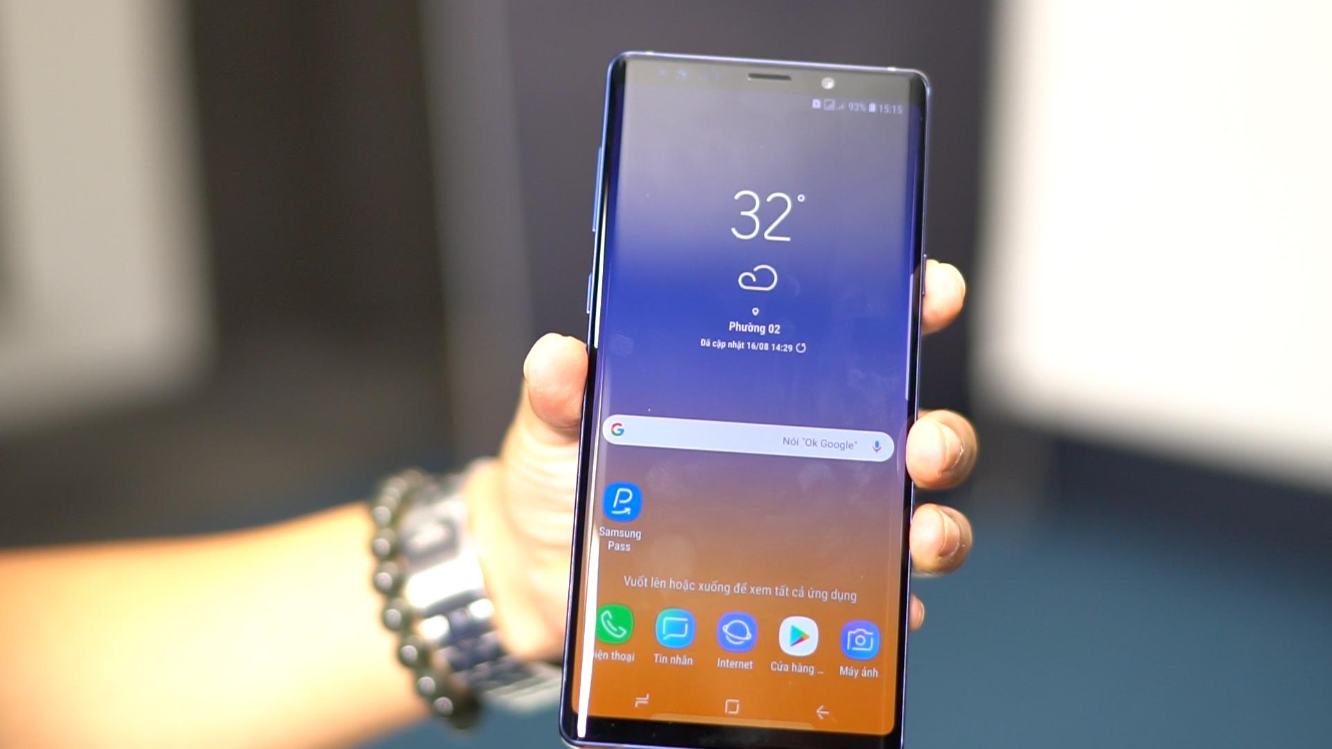 Trên tay Samsung Galaxy note 9