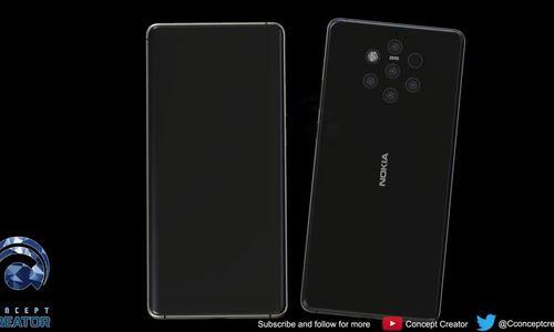 Hình dung về Nokia 9 với năm camera ở mặt sau