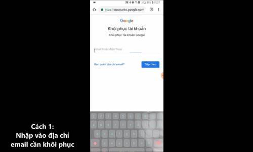 Làm gì khi mất kiểm soát tài khoản Google