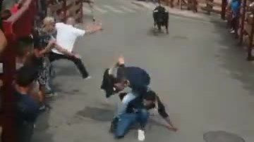 Chơi xấu bạn trong lễ hội bò tót