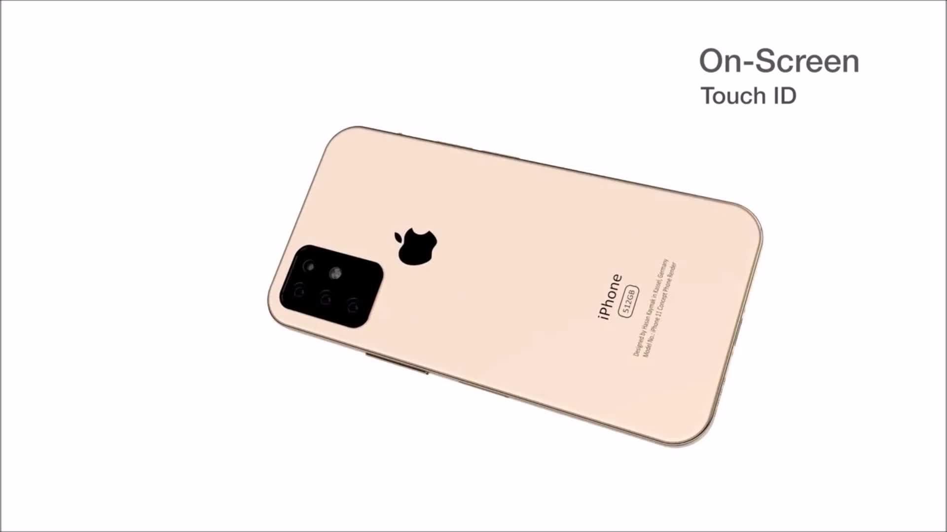 iPhone 11 với concept ba camera, vân tay trong màn hình