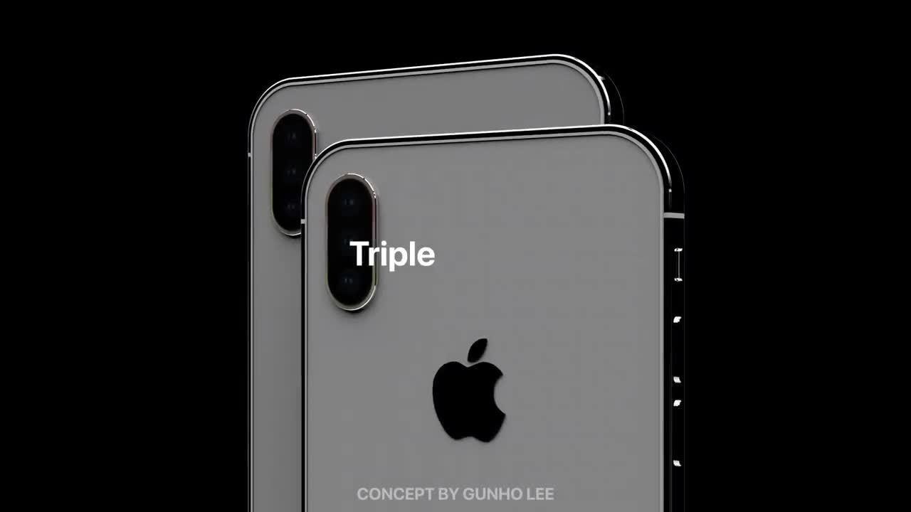 Ý tưởng iPhone XI vuông vắn, đèn flash bao quanh camera