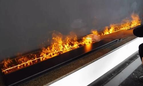 Image result for Lò sưởi bằng đèn LED cho chạm tay vào lửa
