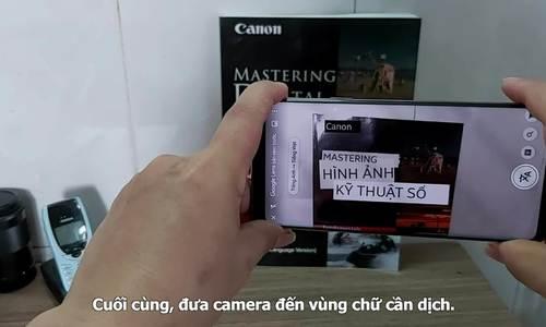 Google Lens dịch trực tiếp ngôn ngữ