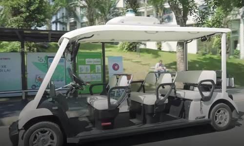 Xe tự hành made in Vietnam tại Diễn đàn công nghệ FPT 2019