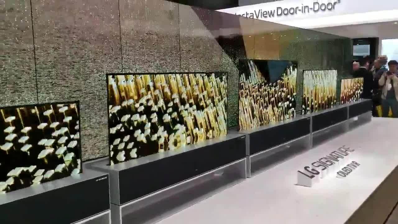 TV LG cuộn tròn tại CES 2020