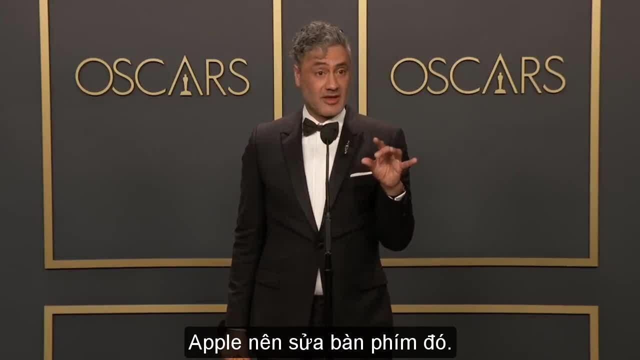 Bàn phím MacBook bị chê tơi tả tại Oscar 2020