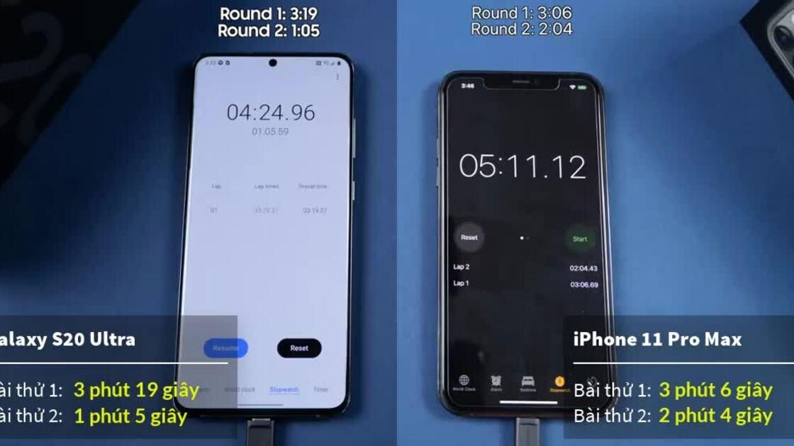 Galaxy S20 Ultra qua mặt iPhone 11 Pro Max về đa nhiệm