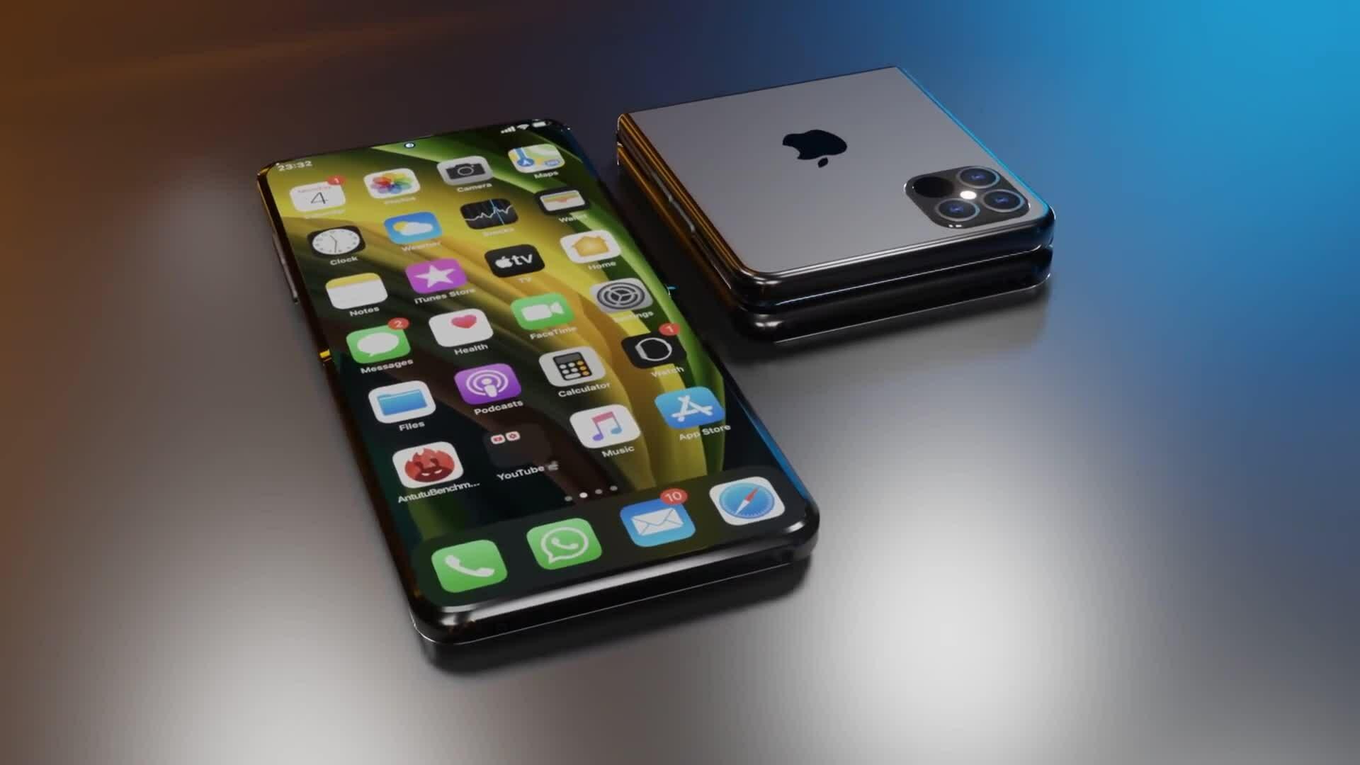 Hình dung iPhone Flip gập như Galaxy Flip