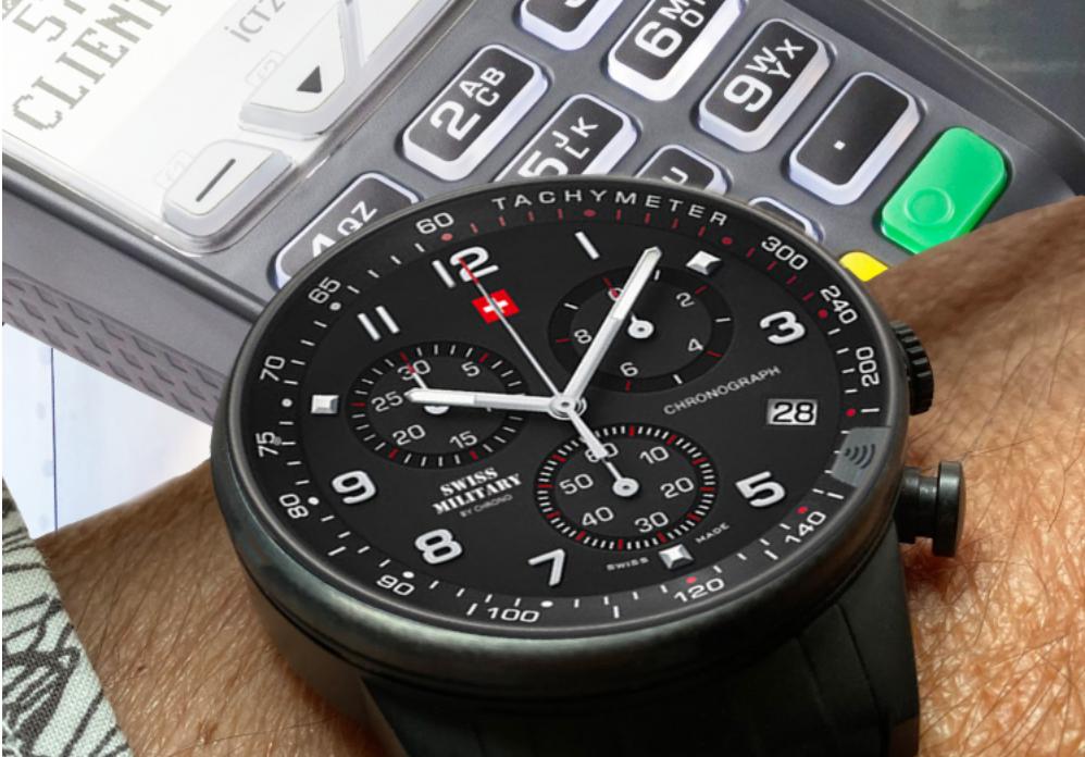 Đồng hồ đeo tay tích hợp thanh toán không chạm dùng chíp Infineon