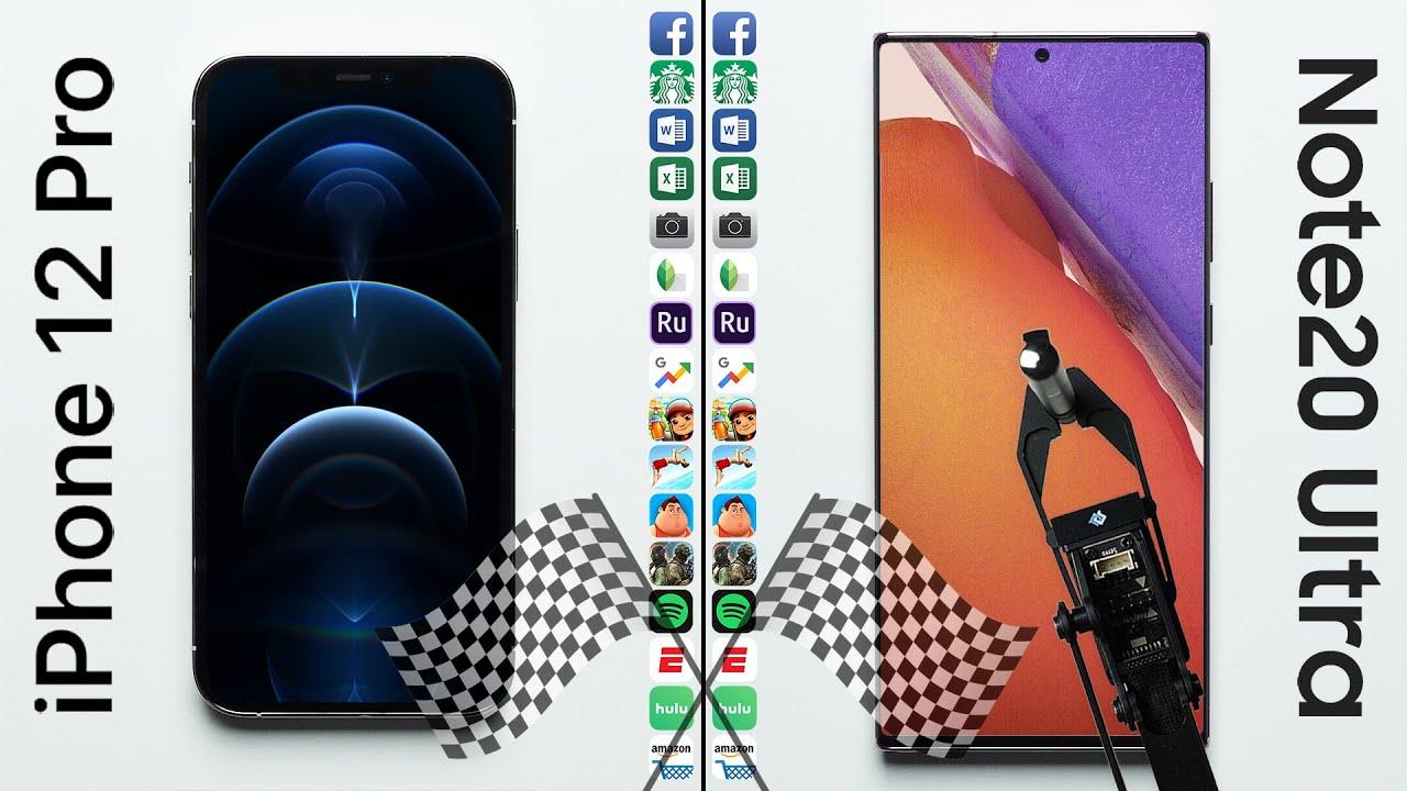 iPhone 12 Pro thắng Galaxy Note20 Ultra trong bài đo tốc độ
