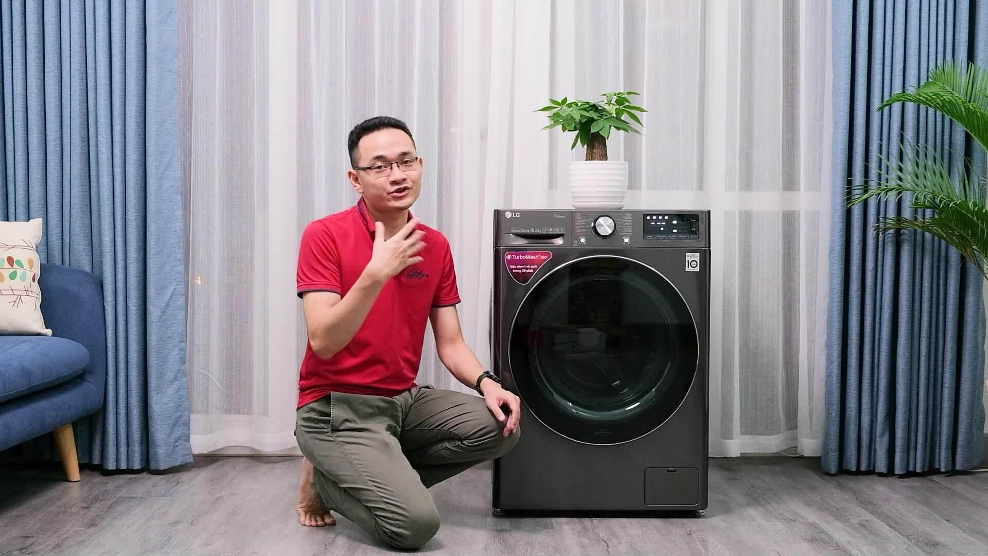 Trải nghiệm máy giặt thông minh tự tính toán lượng nước, chế độ