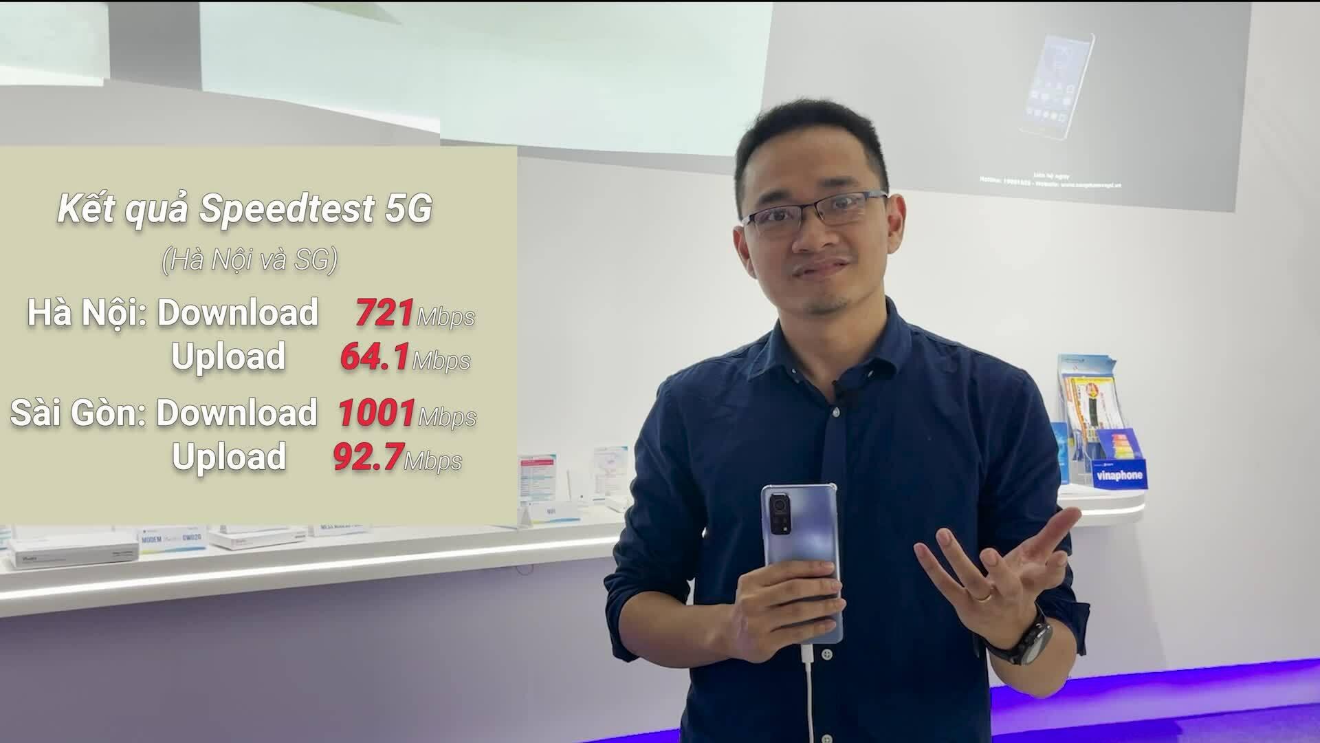 Thử nghiệm tốc độ mạng 5G tại Việt Nam