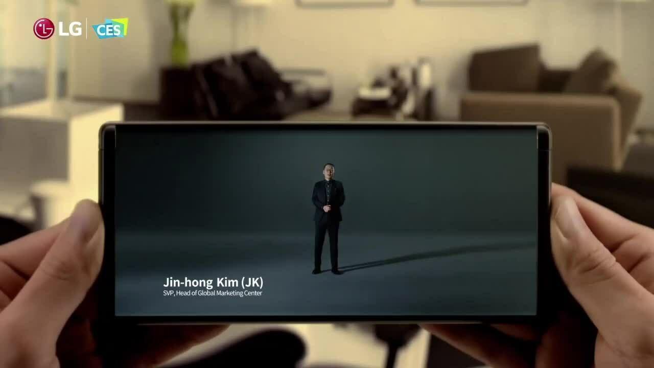 LG hé lộ smartphone cuộn