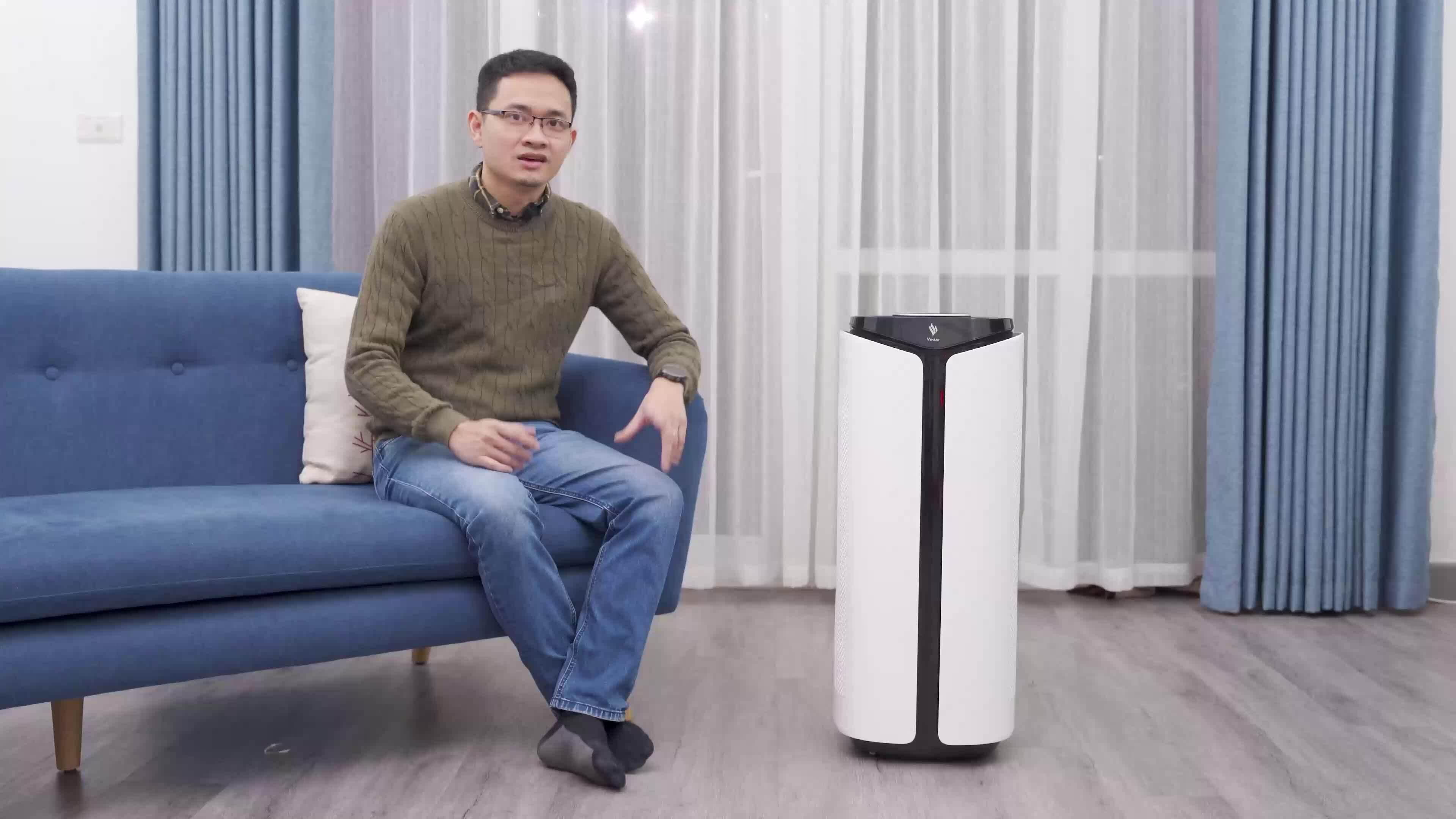 Máy lọc không khí có màn hình như smartphone của VinSmart