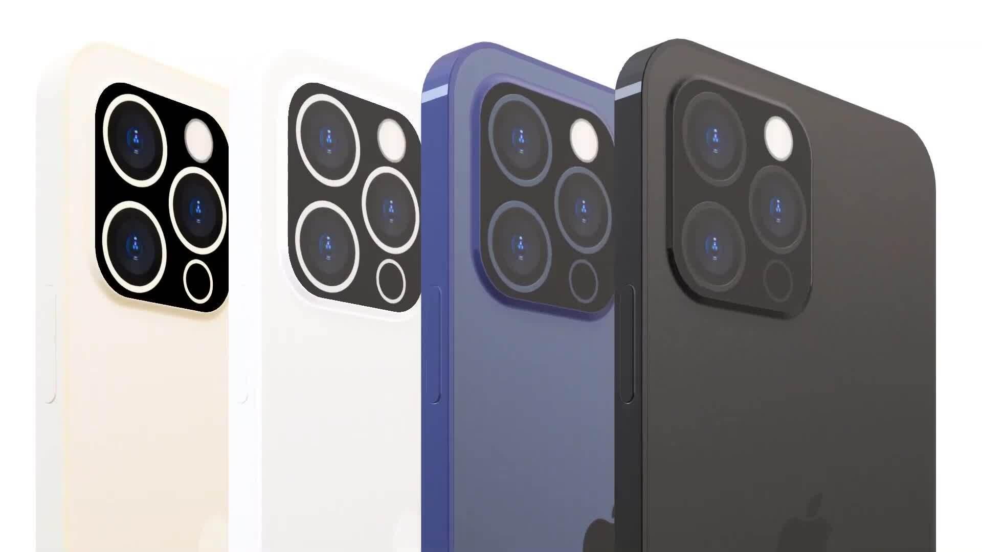 Ý tưởng iPhone 13 với Touch ID dưới màn hình