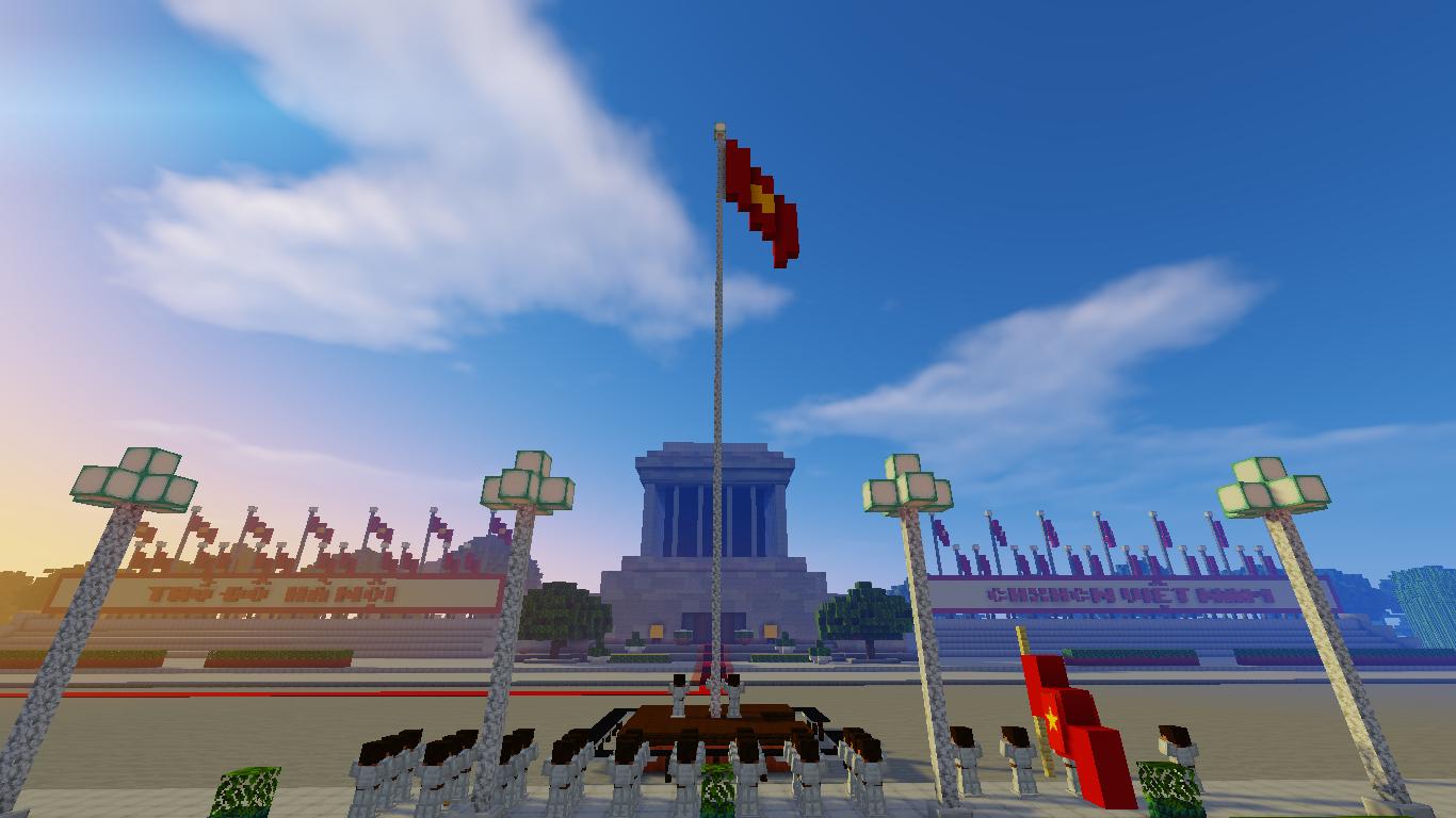 Game thủ đưa hình ảnh Việt Nam lên bản đồ Minecraft
