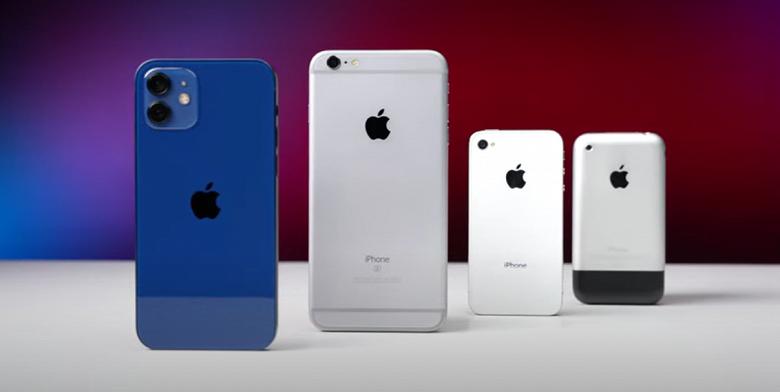 iPhone 12 với iPhone đời đầu
