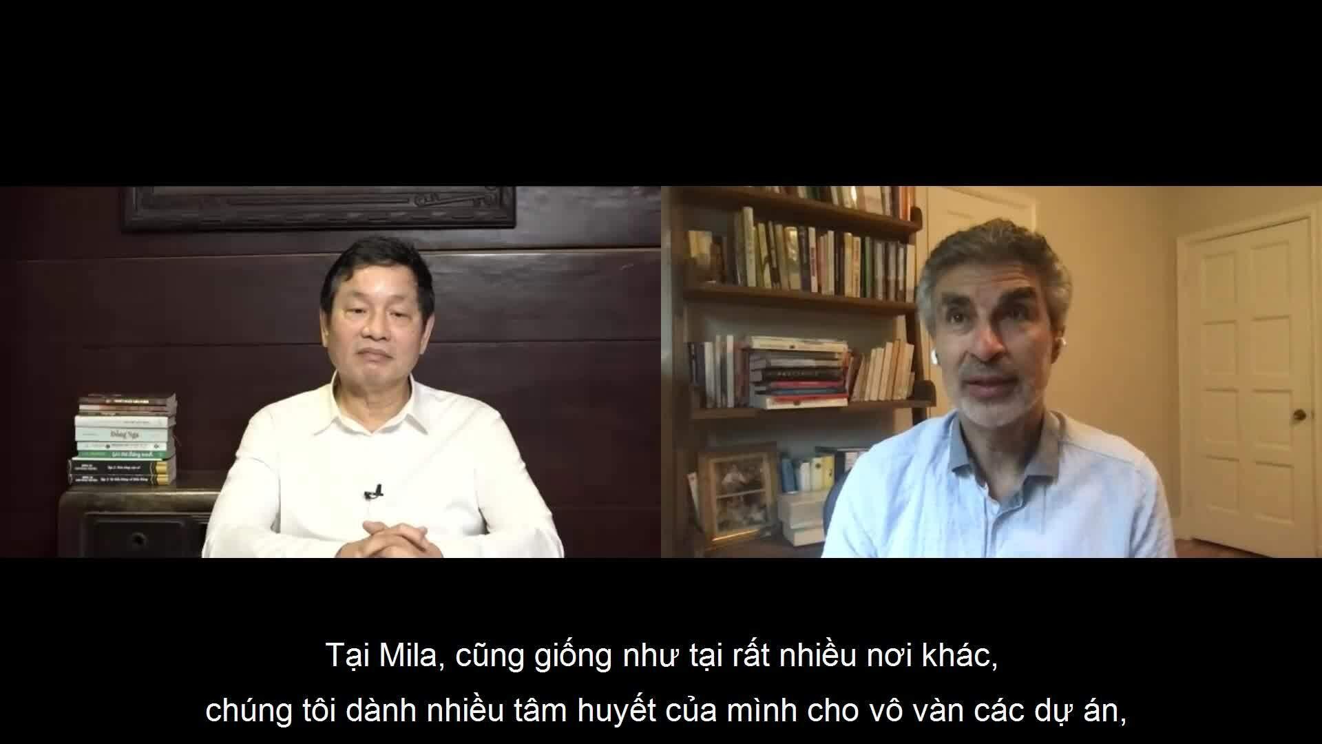 Ông Trương Gia Bình đối thoại với 'bố già AI'