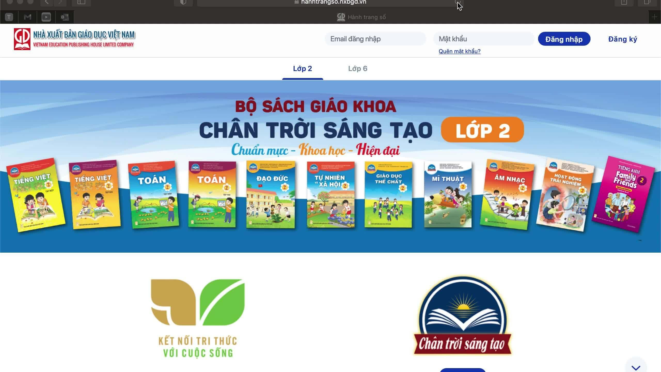 Sách giáo khoa online miễn phí cho học sinh