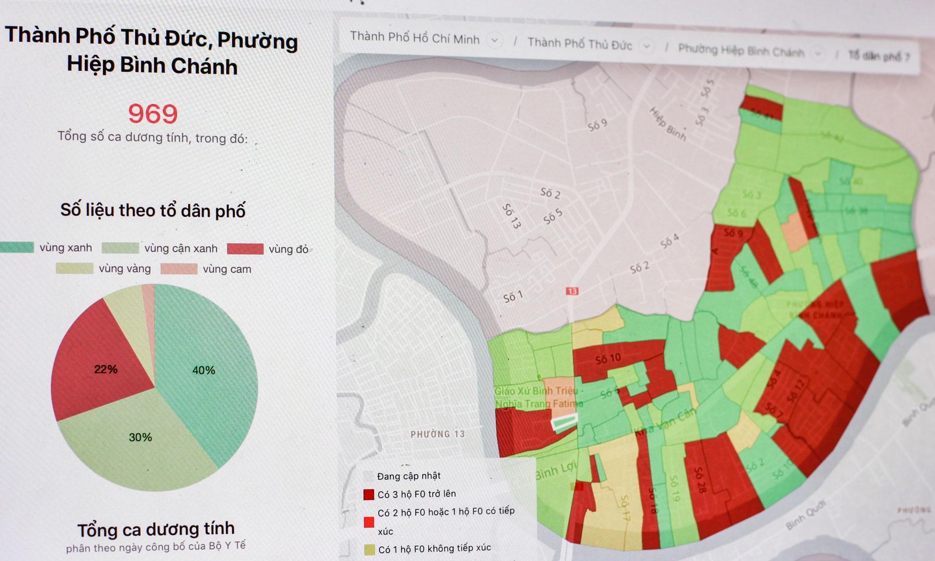 Cách xem mình ở vùng xanh hay đỏ trên bản đồ Covid-19