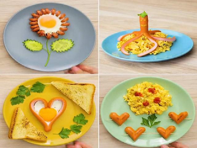 Bí quyết làm bữa sáng đẹp mắt nhìn đã muốn ăn chỉ tốn 5 phút