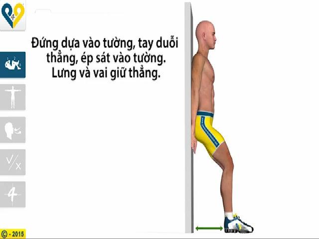 Hướng dẫn phái mạnh động tác ngồi dựa lưng vào tường giảm béo