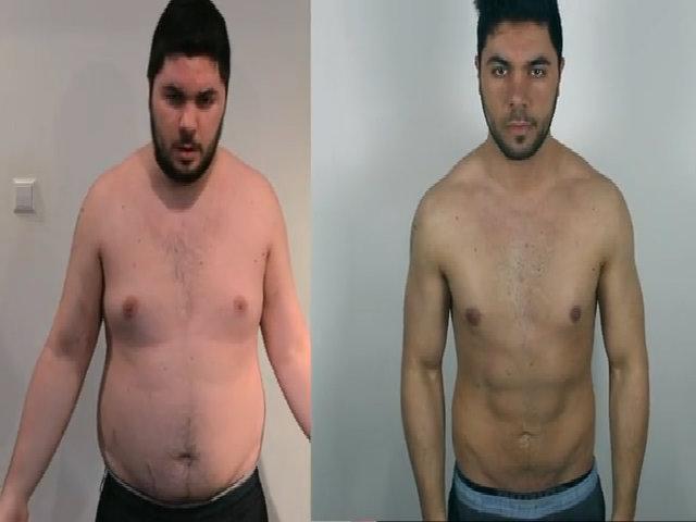 Chàng béo 'lột xác' sau 90 ngày luyện tập