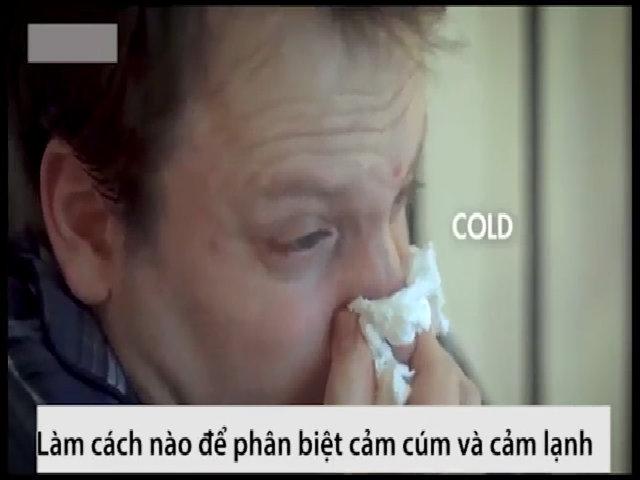 Cảm cúm khác cảm lạnh ra sao?