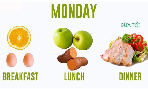 Thực đơn giảm cân trong 2 tuần với trứng gà
